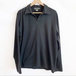 Banana Republic Black Long Sleeve Shirt Size Large